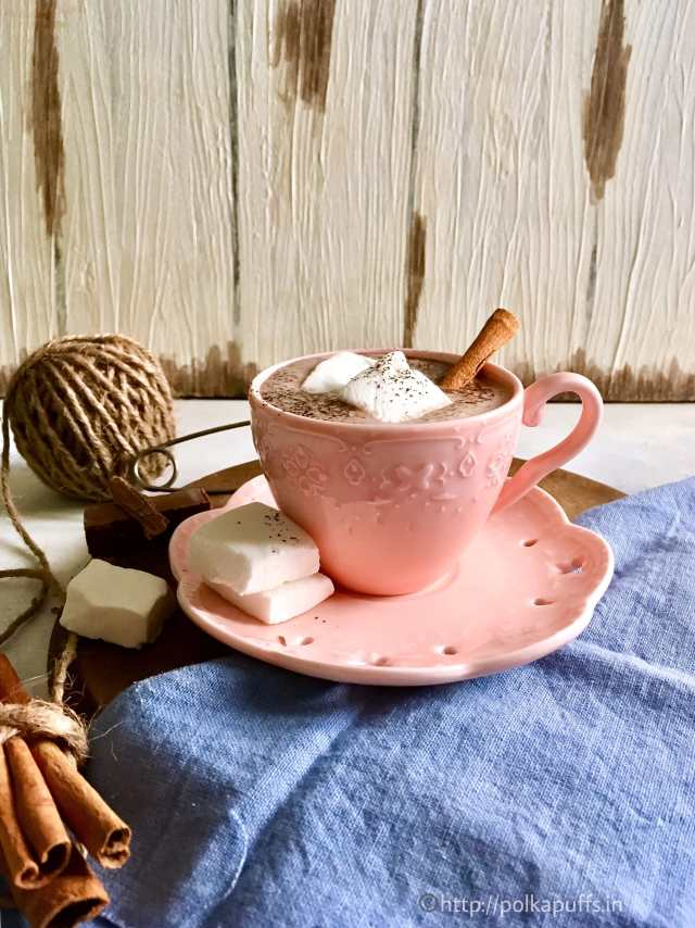 Hot Chocolate with Homemade Vanilla Marshmallows