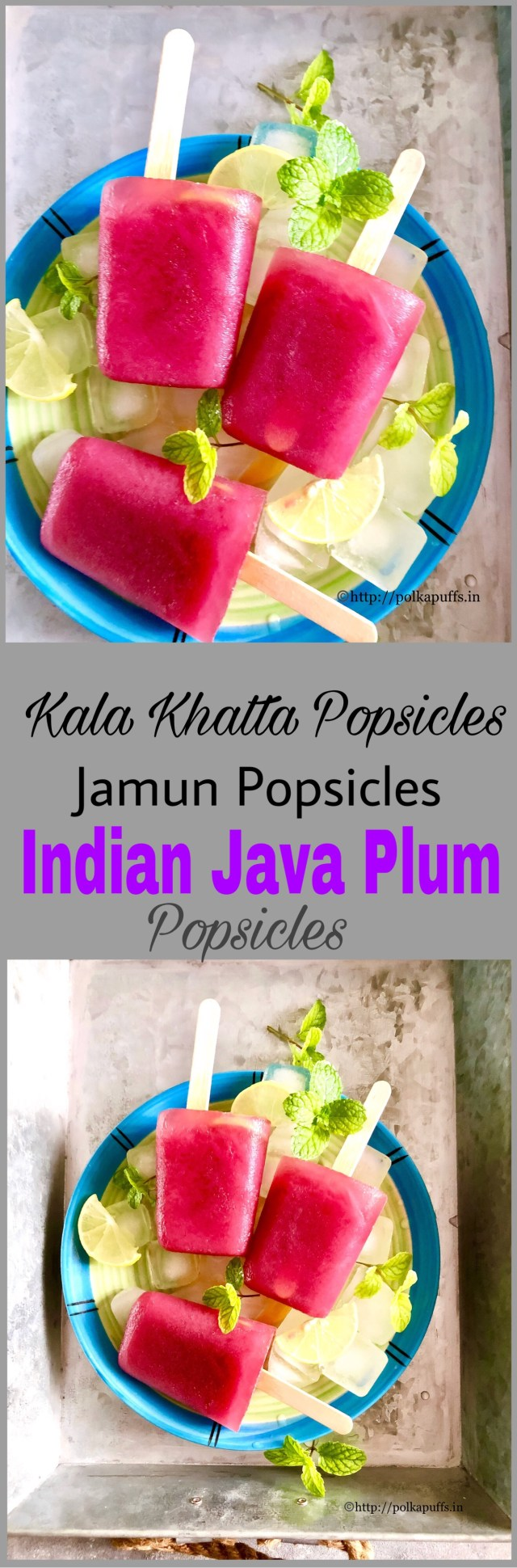 Kala Khatta Popsicles | Jamun Popsicles | Indian Java Plum Popsicles