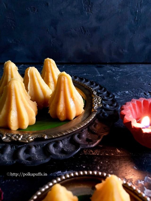 Kesar Mawa Modak | Gluten free Saffron Fudge
