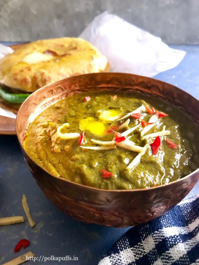 Sarson Ka Saag aur Makki ki Roti | Gluten free recipe