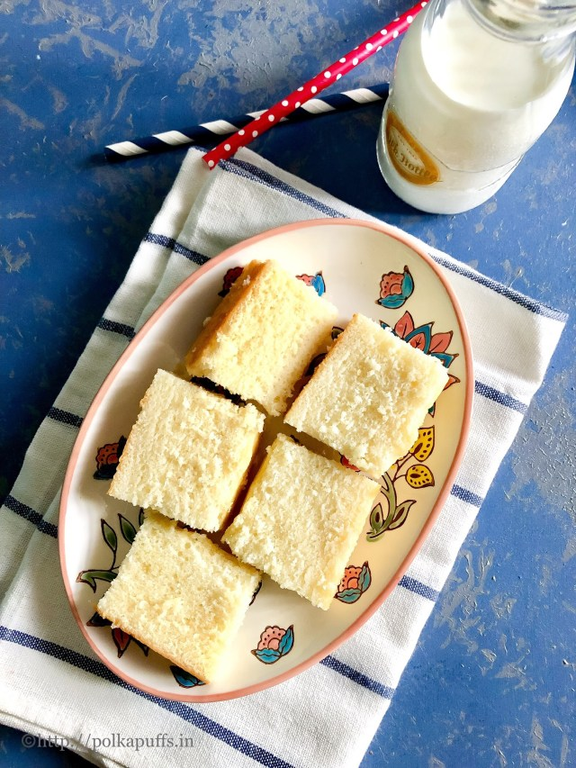 Egg free Hot Milk Cake | How to make Hot Milk Cake