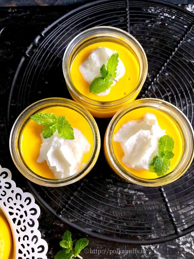 Egg Free No Bake Mango Pudding   Gelatin Free Mango Pudding