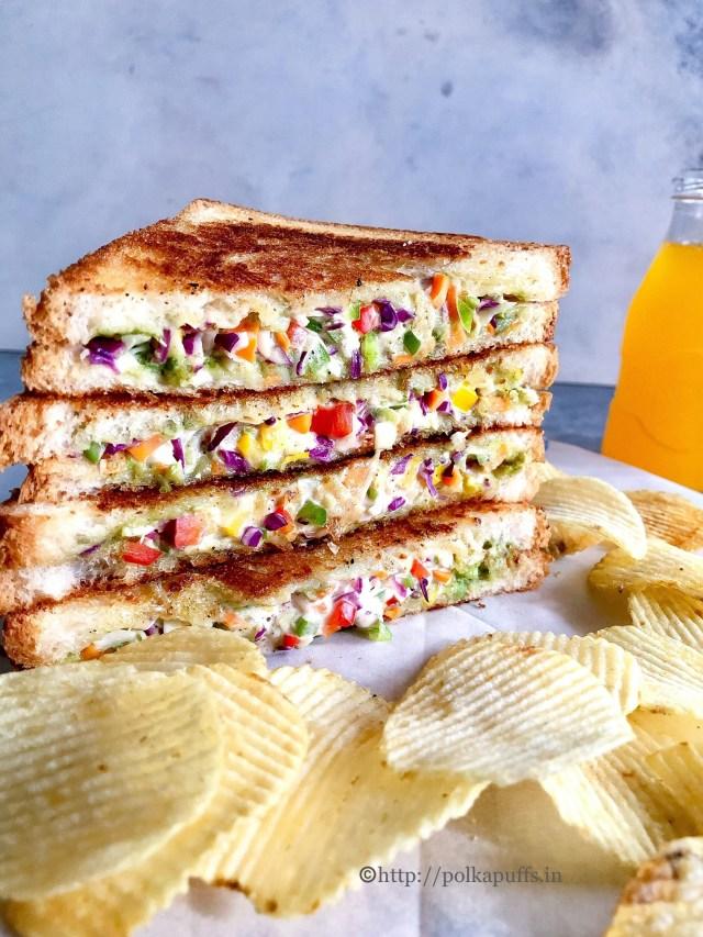 Vegetable Mayonnaise Sandwich   Vegan Mayonnaise Sandwich