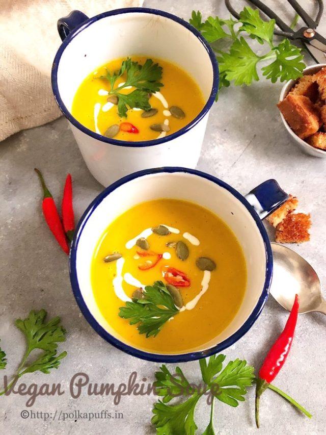 Vegan Pumpkin Soup   30 minute recipe