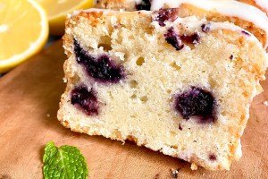 Eggless Lemon Blueberry Pound Cake
