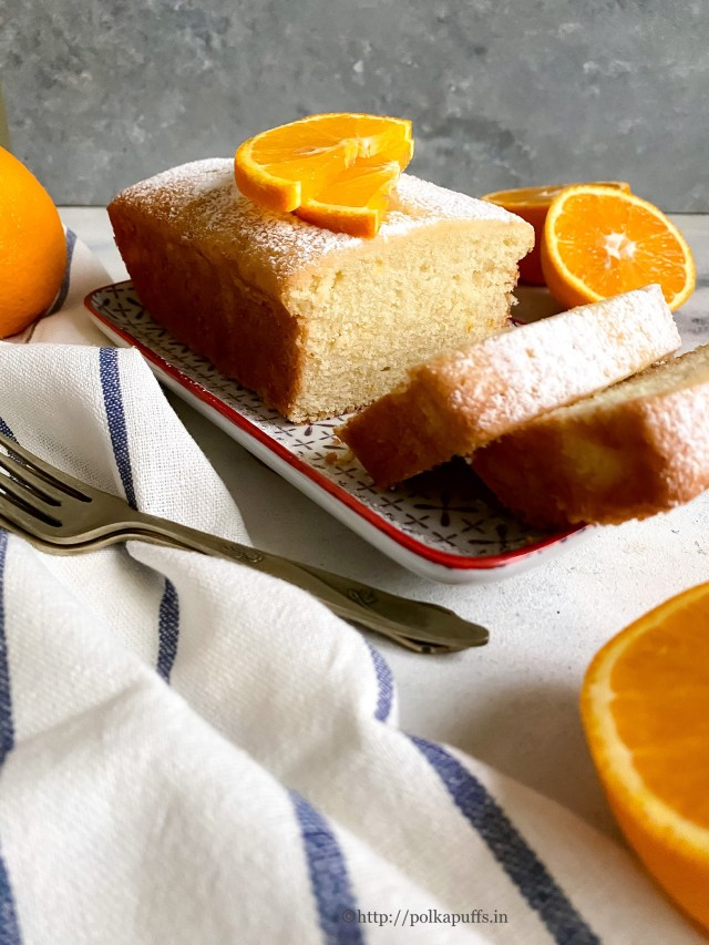 Egg-free Orange Pound Cake | Eggless Orange Cake Recipe