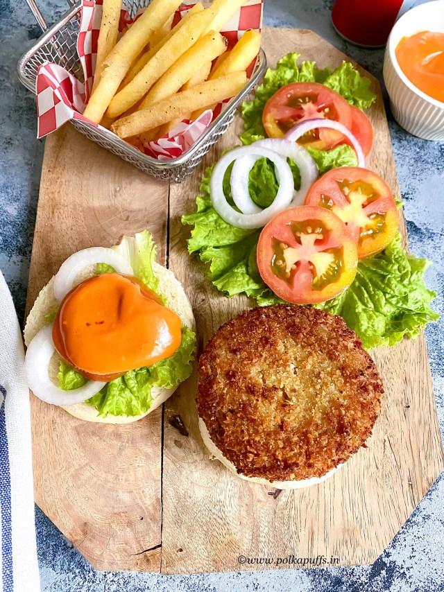 Aloo Tikki Burger | Vegan Aloo Tikki Burger