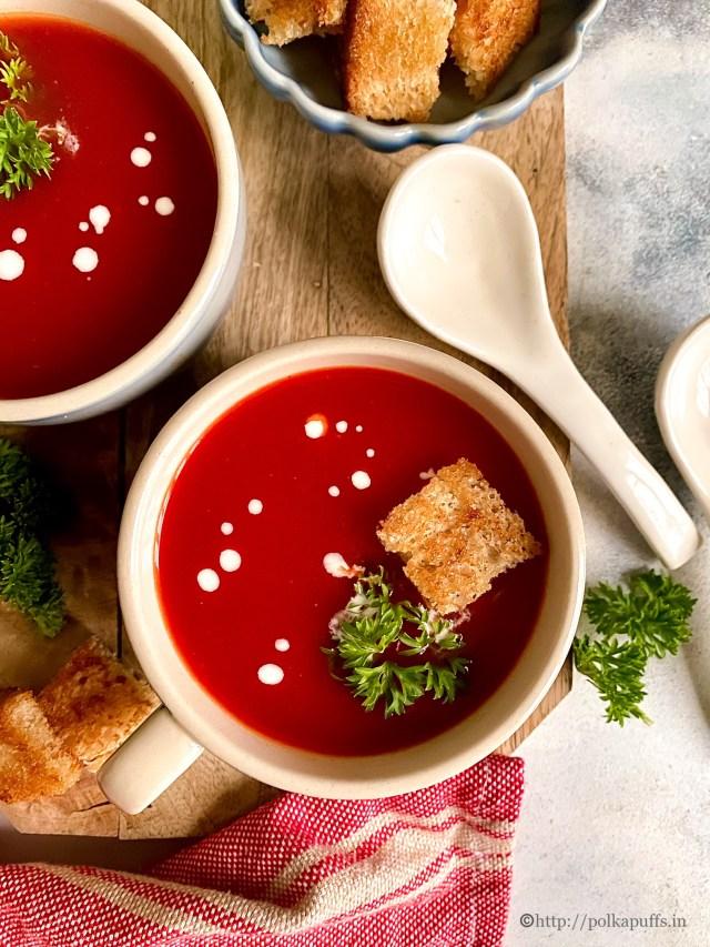 Tomato Soup | Restaurant Style Tomato Soup