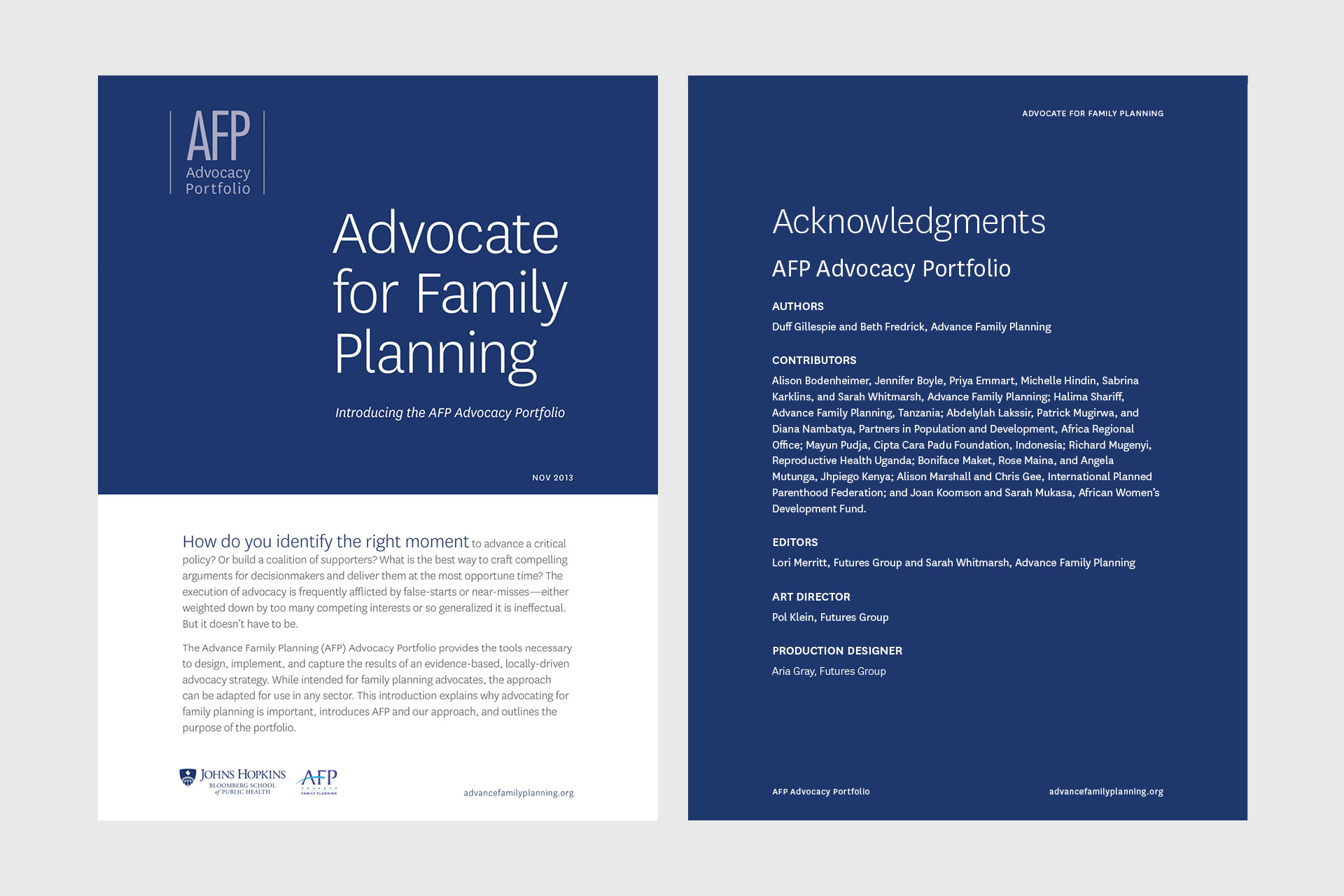 Advance Family Planning Portfolio