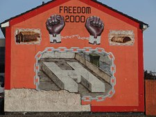 Mural of H blocks, where Protestants were imprisoned during Troubles