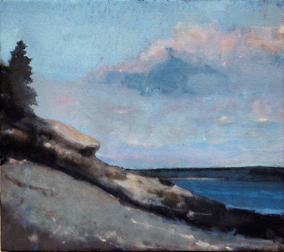 Neat Otter Cliff, oil on linen