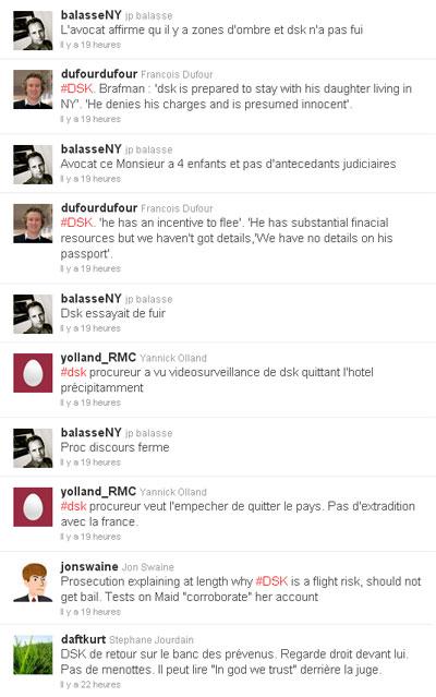 affaire DSK : le choc des images, le poids de Twitter