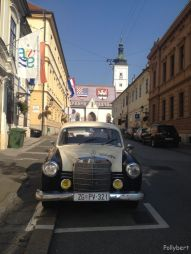 St. Mark's Church with an old Mercedes in front