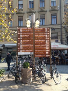 great signs for all sights all over the city @Zagreb