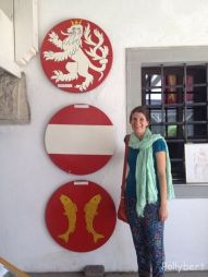 Andrea with different coats of arms