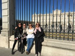 "The ""Golden Girls"" in front of the Palacio Real"