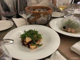 smoked octopus with green beans and potatoes at Villa Paramesa