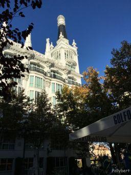 sunny sky in Madrid