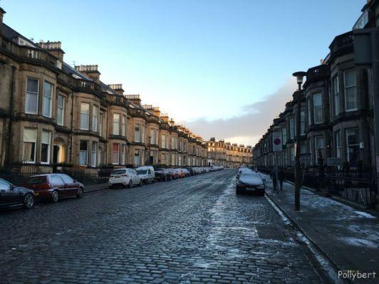 typical Georgian houses and the street where the Lairg hotel was @Edinburgh, Scotland