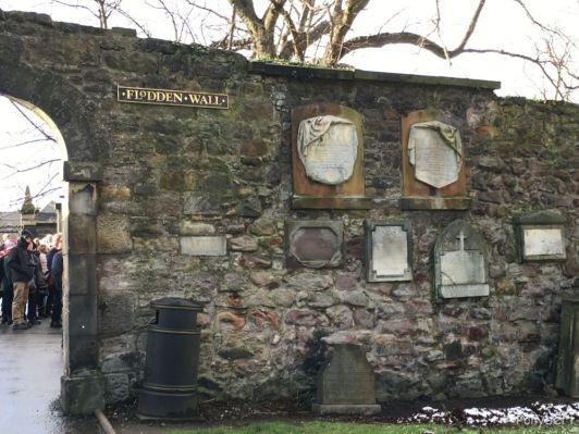 Flodden Wall in Greyfriars Kirkyard @Edinburgh, Scotland