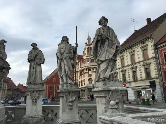 Detail of the plague monument @Maribor, Slovenia