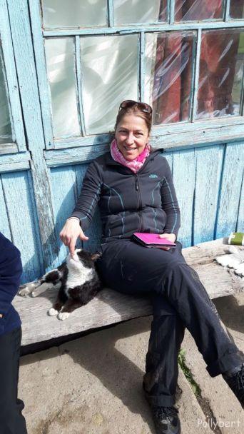 Pollybert with local wild life @Altyn Arashan