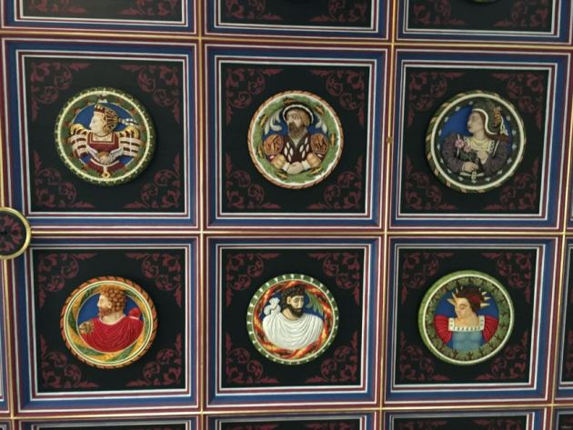 wooden ceiling in Stirling Castle