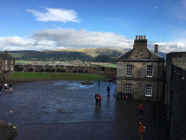 view over countryside from Stirling Castle