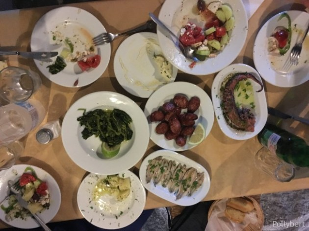 a mix of starters for dinner @Naoussa