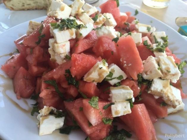watermelon, tomato, feta = amazing @Antiparos