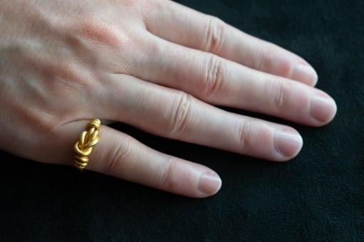 Viking knot ring