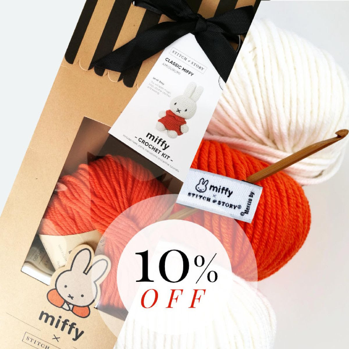 10% off all Miffy kits at Stitch & Story