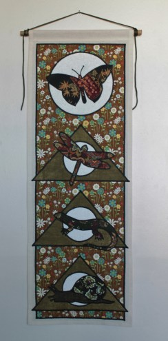 Gardeners Delight, Animal Spirit Tapestry with Butterfly, Dragonfly, Lizard and Snail