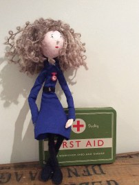 Nurse Gabby On her first aid tin