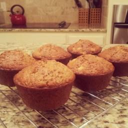 Spent Grain Apple Cinnamon Muffins