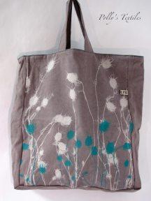 Slate With Turquoise Nigella Design.