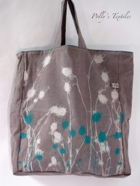 Slate With Turquoise Nigella Design.