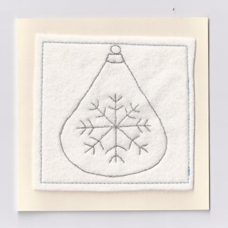 Handmade Christmas bauble Card