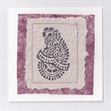 Purple Indian Print Card