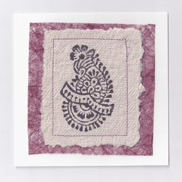 Purple Indian Print Card