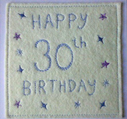 handmade 30th birthday card