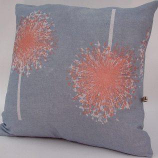Aliums handmade cushion