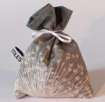 Grey handmade lavender pouch