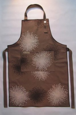 Brown handmade apron