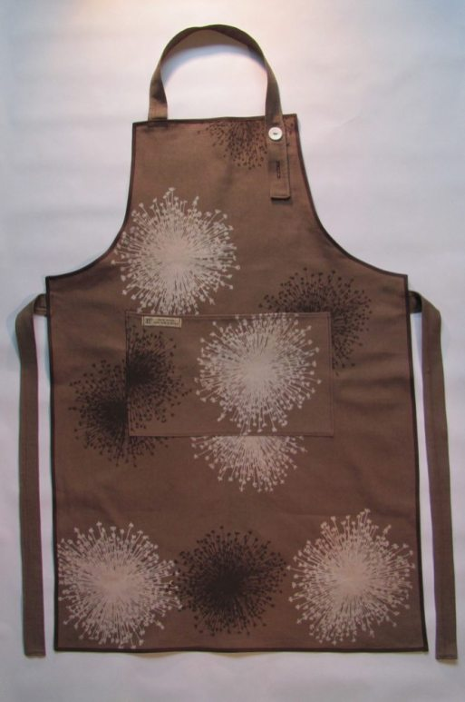 Brown handmade apron