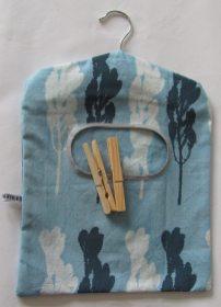 Blue peg bag