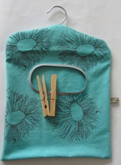 Turquoise peg bags