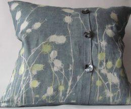 Charcoal linen cushions