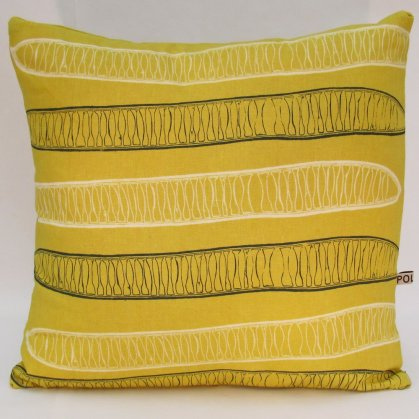 yellow linen cushions