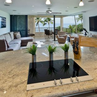 Polo Beach Club #408 - Kitchen to Living Room